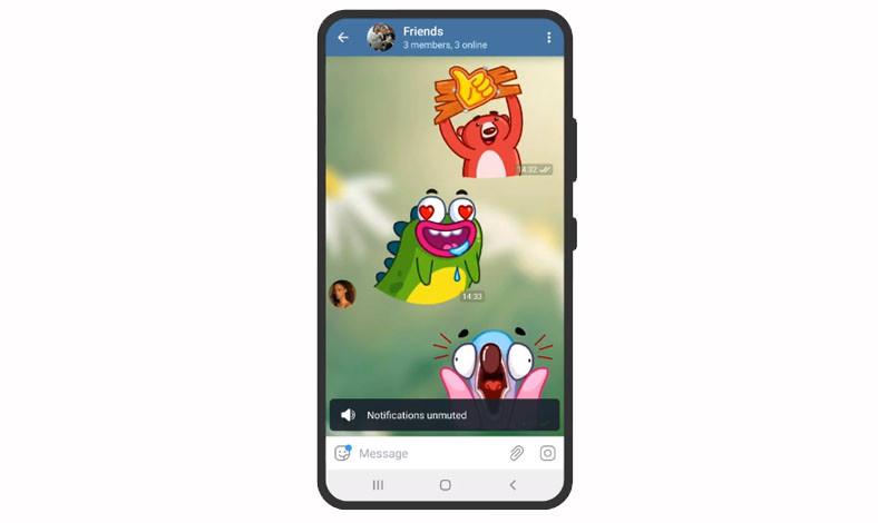 cara pakai stiker Telegram di WhatsApp