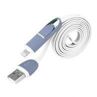 Bluelans 2 in 1 USB lightning sync data